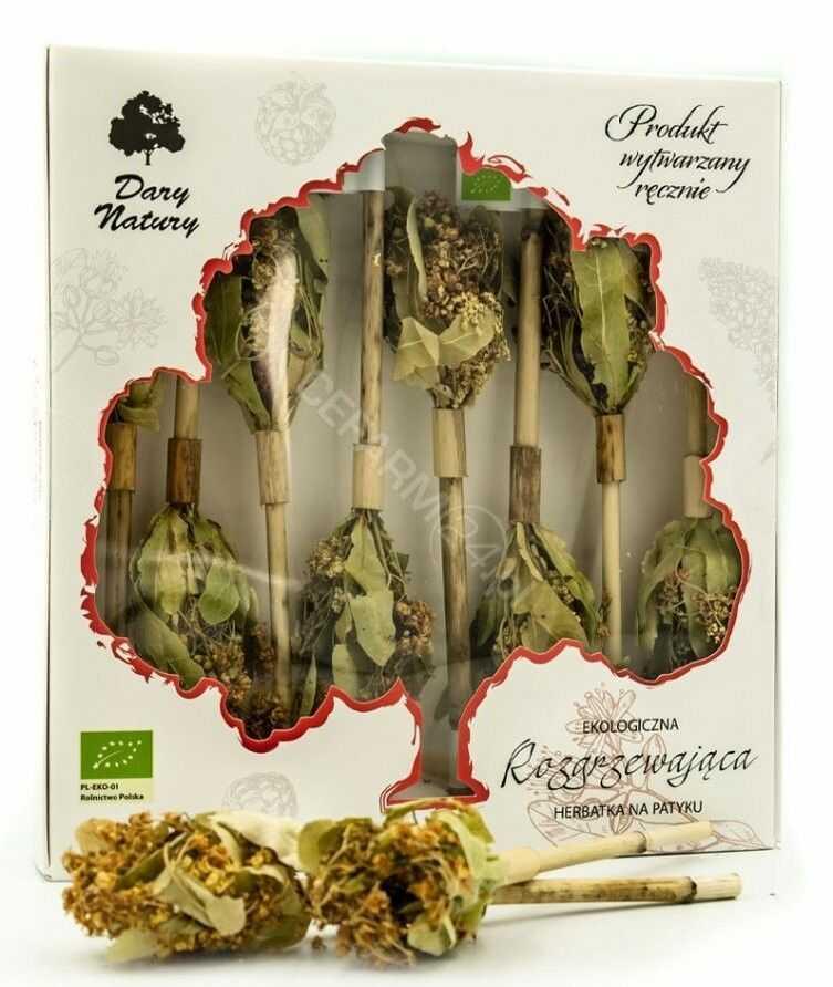 Dary Natury herbatka na patyku Rozgrzewająca eko 8 sztuk