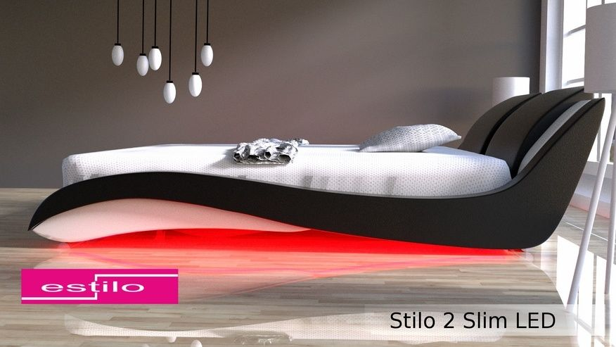 Łóżko do sypialni Stilo-2 Slim LED RgB multikolor