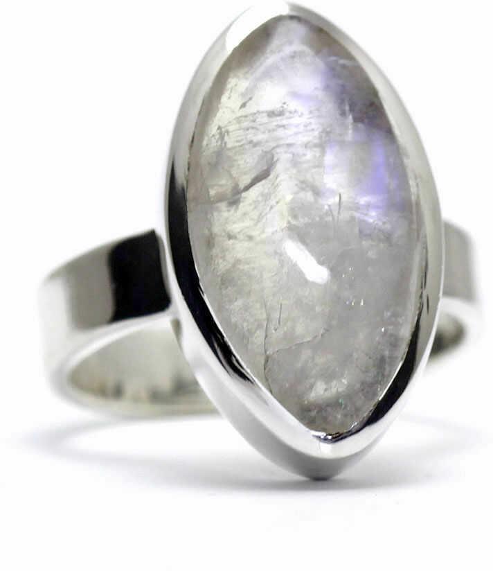 Kuźnia Srebra - Pierścionek srebrny, rozm. 12, Kamień Księżycowy, 6g, model