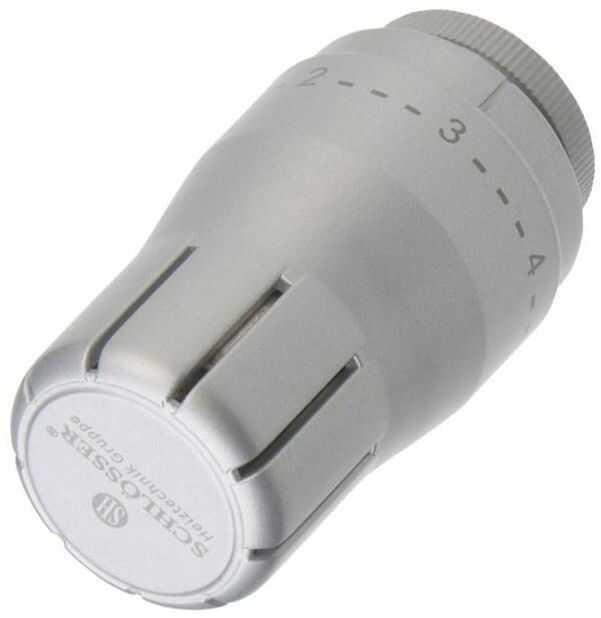 Głowica termostatyczna M30 x 1.5 DIAMANT STD SREBRNA SCHLOSSER