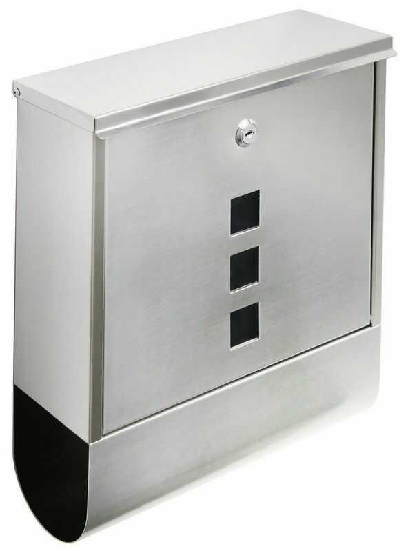 Skrzynka pocztowa BK.210 stal nierdzewna, 30,5x24,3x9,6 cm