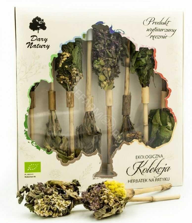 Dary Natury herbatka na patyku Kolekcja eko 8 sztuk