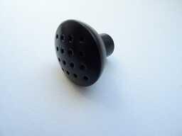 gałka meblowa GA28C czarna, gamet