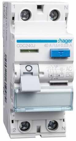 Wyłącznik różnicowoprądowy 2P 40A 0,03A typ AC CDC240J