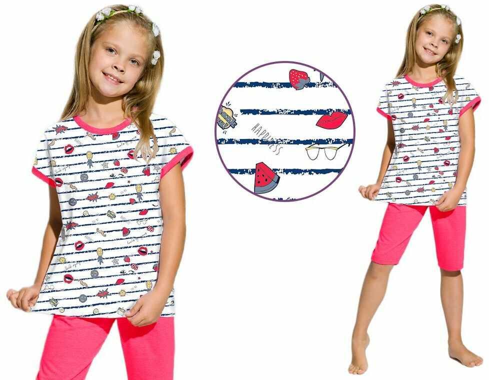 Piżama dziecięca AMELIA: fuksja