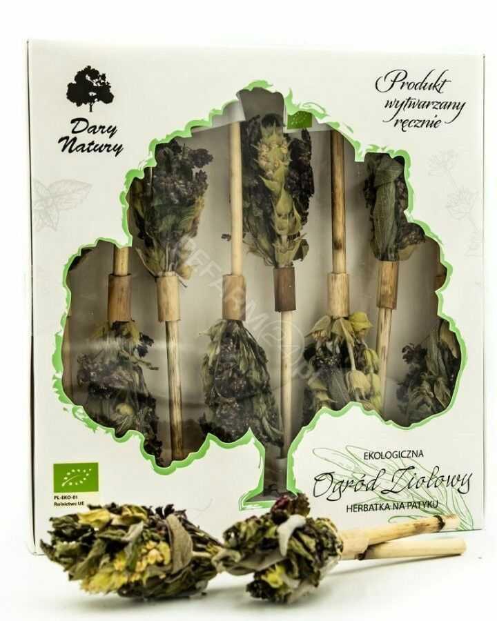 Dary Natury herbatka na patyku Ogród Ziołowy eko 8 sztuk