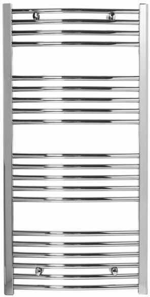 Grzejnik łazienkowy York - wykończenie zaokrąglone, 600x1200, Chromowany