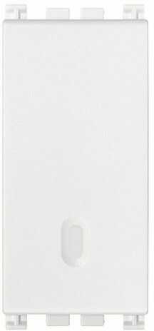 Przycisk dzwonkowy 1P NC 10A, biały