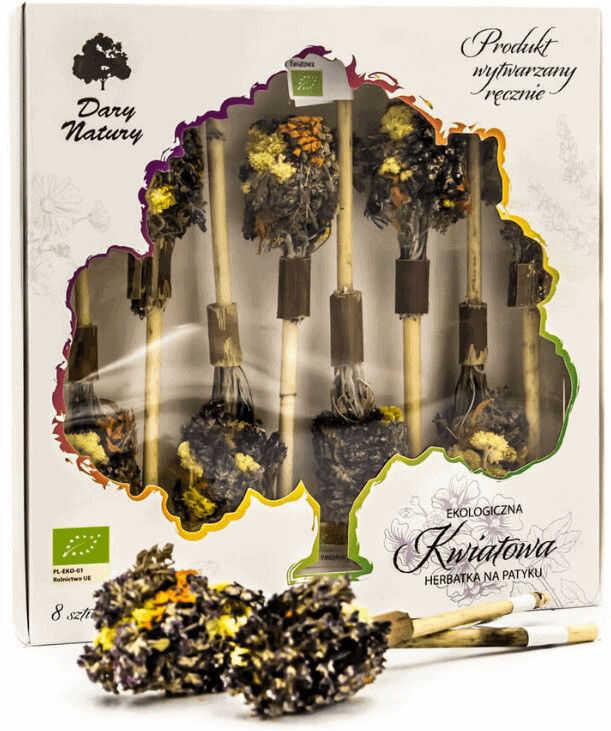 Dary Natury herbatka na patyku Kwiatowa eko 8 sztuk