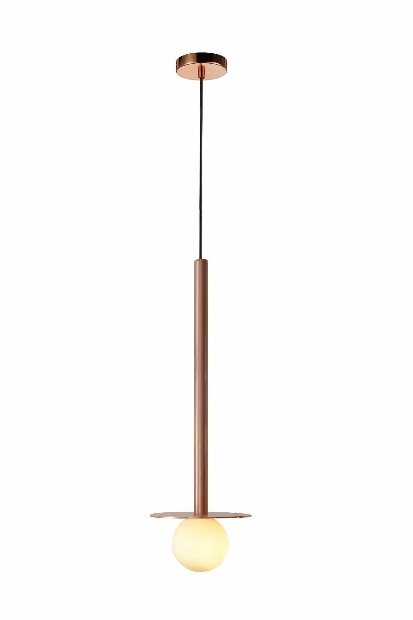 Light Prestige Bolita LP-048/1PL GR lampa wisząca różowe złoto metalowa klosz szklany 1x5W G9 175cm