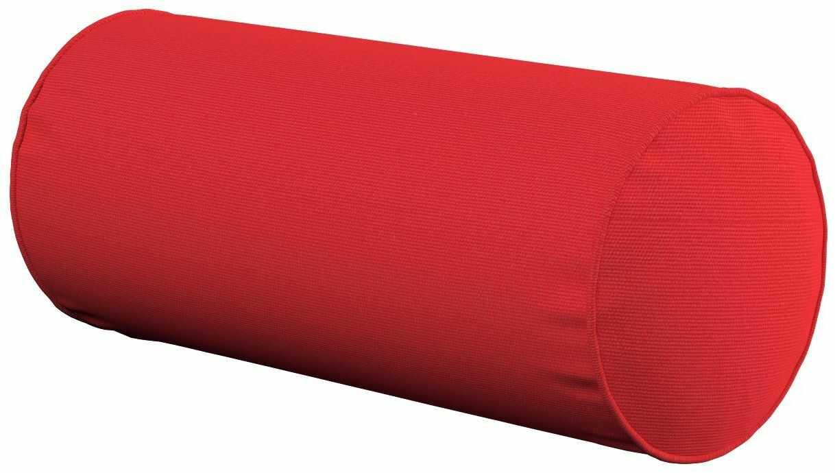 Poduszka wałek prosty, czerwony, Ø16  40 cm, Loneta