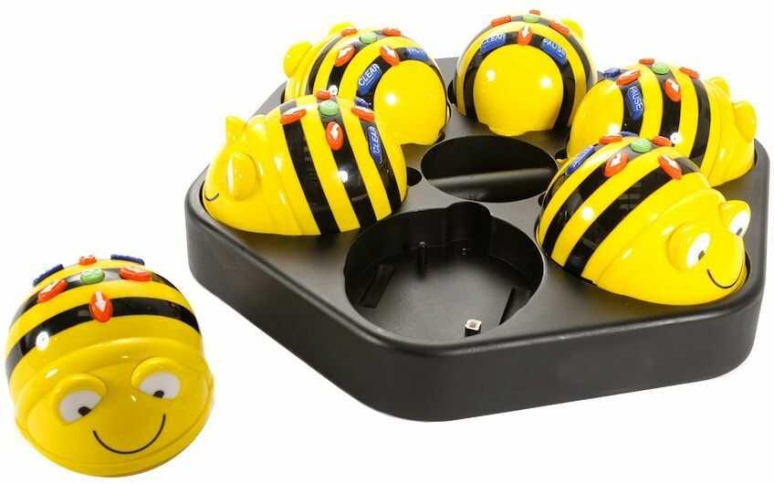 Bee-Bot 6szt. ze stacją ładującą - Robot zabawka