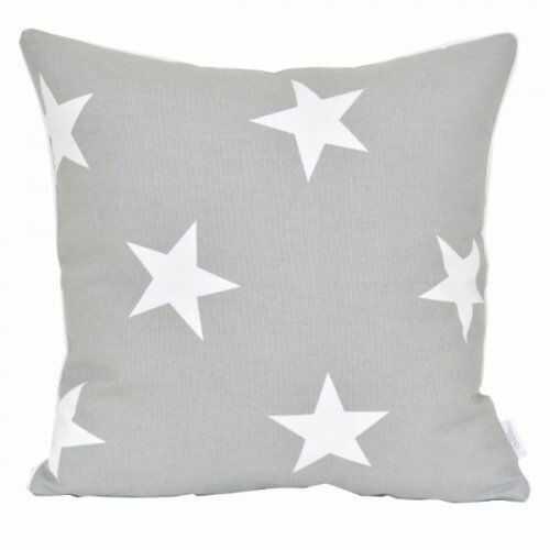Poszewka dekoracyjna - Duże gwiazdy - Szarość