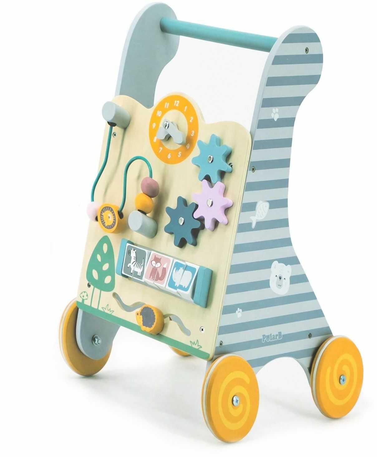 Viga Toys PolarB Drewniany Pchacz Chodzik Edukacyjny dla dzieci