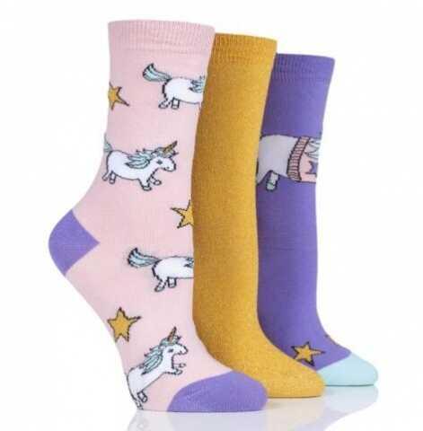 Kolorowe skarpety Wild Feet - JEDNOROŻEC - 3 pary !!!