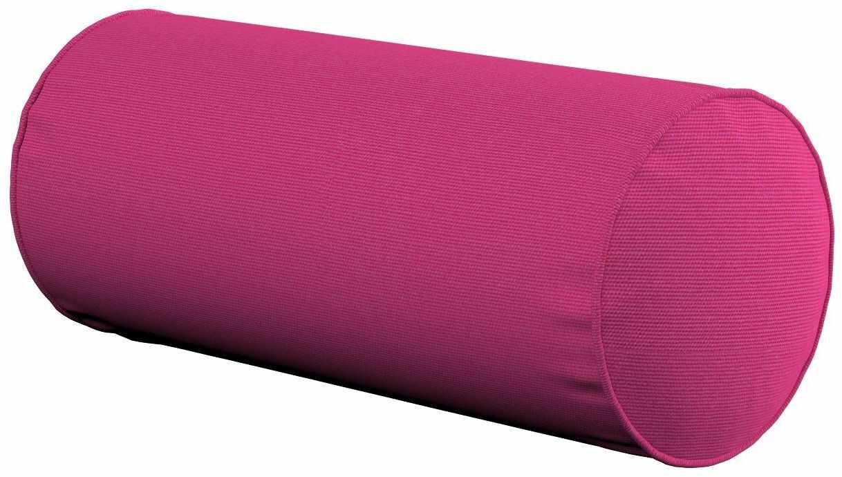 Poduszka wałek prosty, różowy, Ø16  40 cm, Loneta