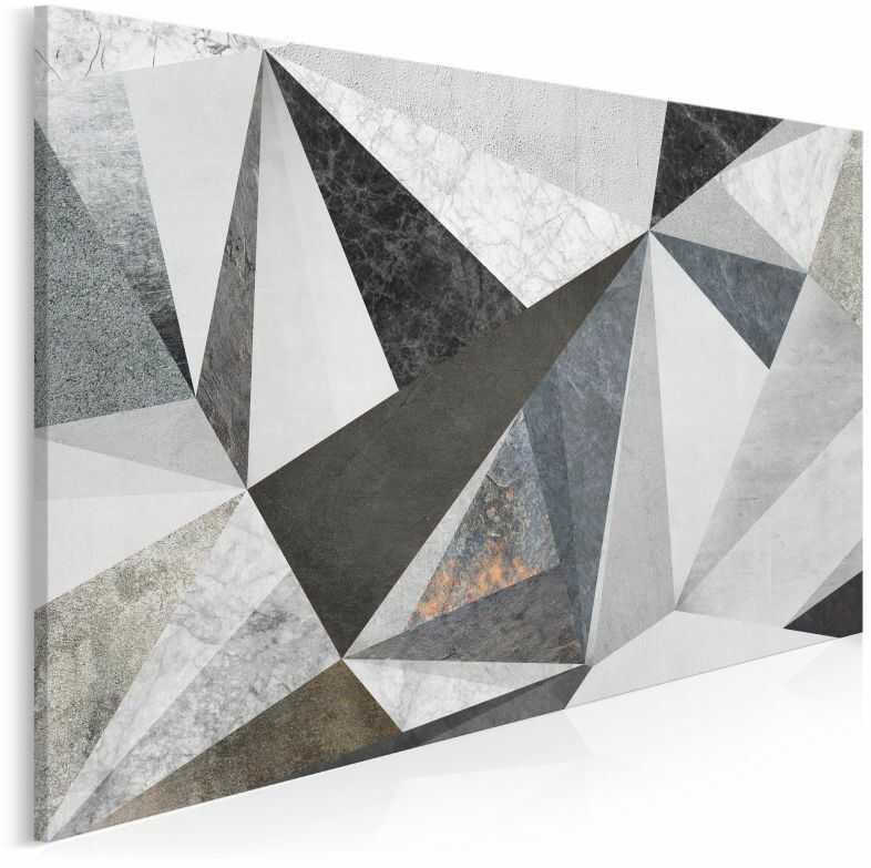Betonowy las - nowoczesny obraz na płótnie - 120x80 cm