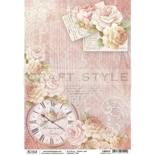 CBR010 Romantic Time Collection - papier ryżowy A4