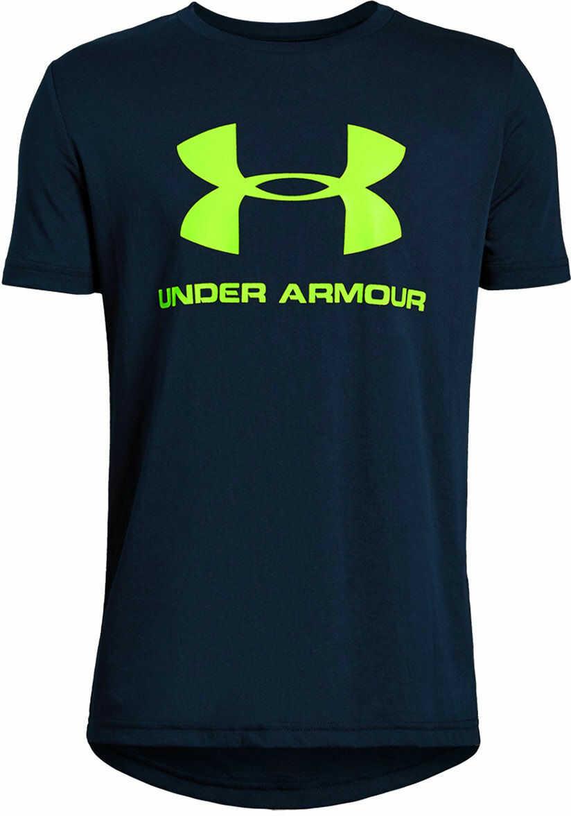 Koszulka termoaktywna dziecięca Under Armour Sportstyle Logo navy (1330893-408)