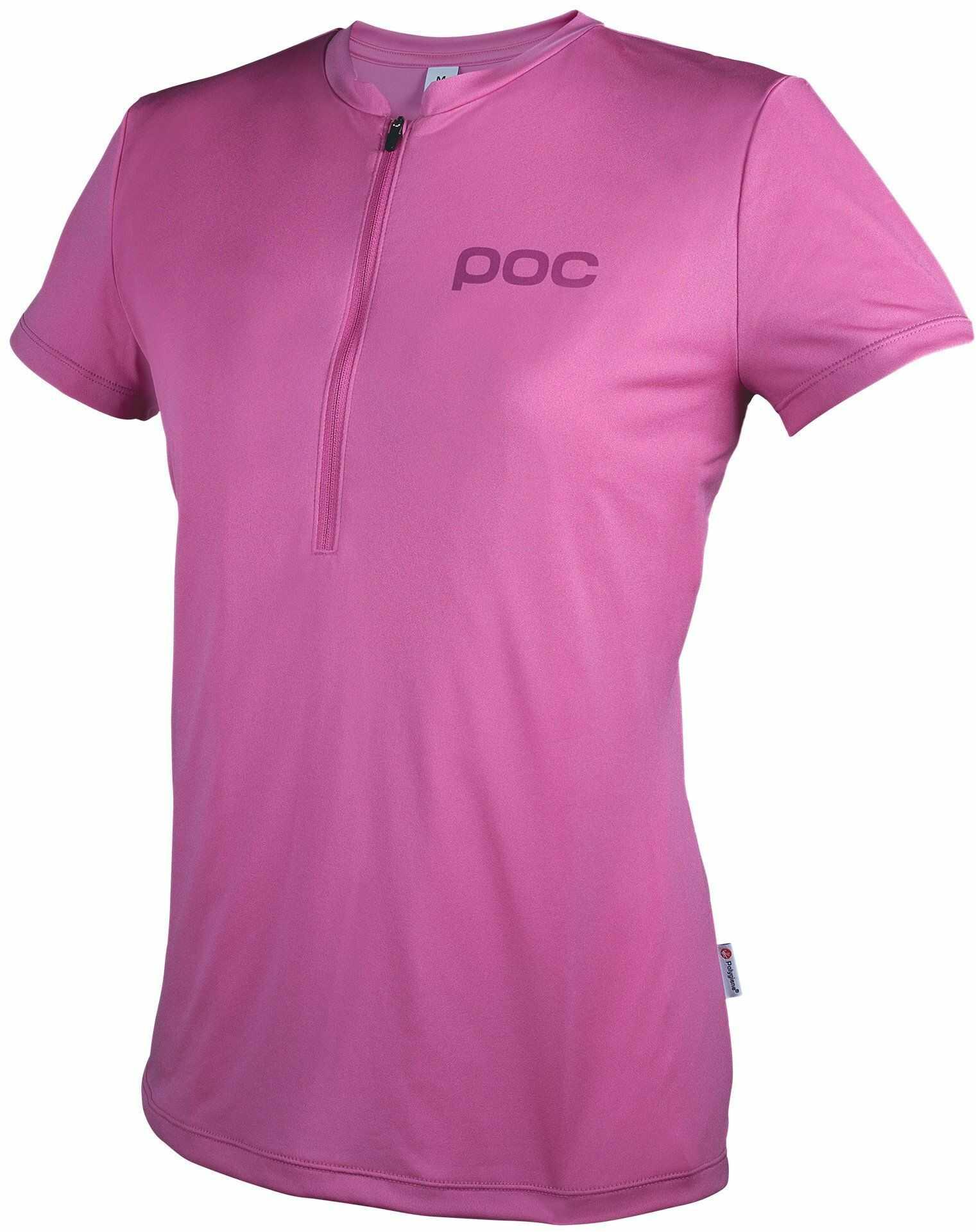 POC Męski t-shirt kolarski z kręgosłupem różowy siarkowy rozmiar: L