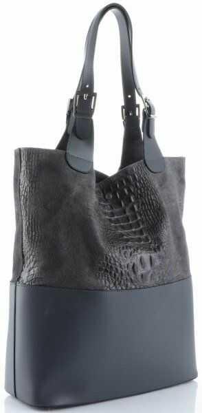Damskie Torebki Skórzane ShopperBag firmy Genuine Leather Szare (kolory)
