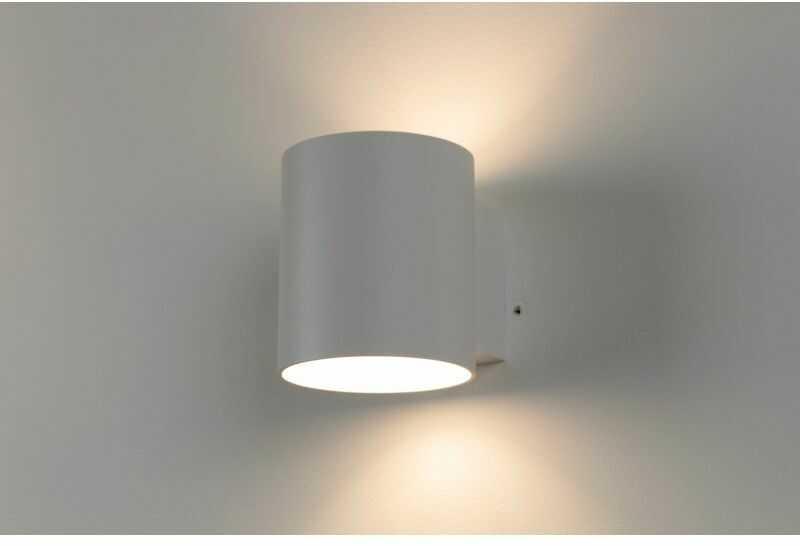 LM K 110 WH KINKIET LAMPA ŚCIENNA WALEC ŚWIATŁO GÓRA DÓŁ ALUMINIUM BIAŁY G9 LED
