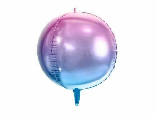 Balon foliowy Kula ombre, fioletowo-niebieska