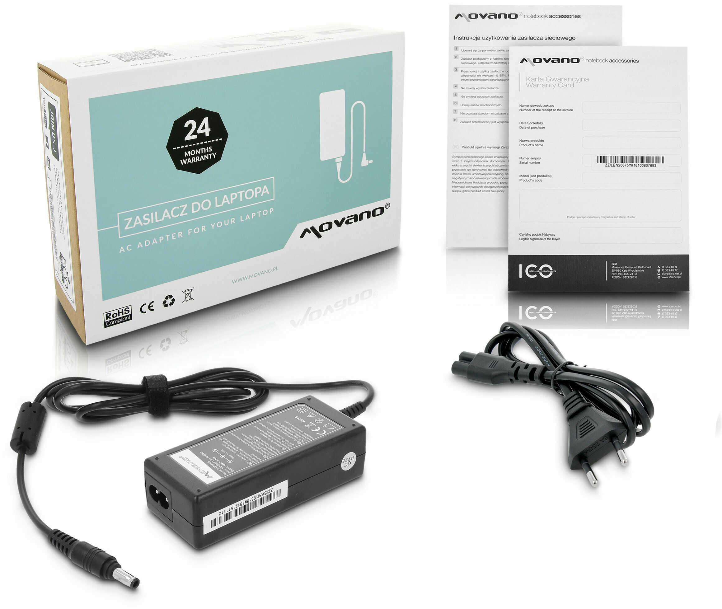Zasilacz do laptopa Samsung SPA SPA-V20E/UK SPA-V20E/E SPA-T10/UK SPA-T10E/EUR