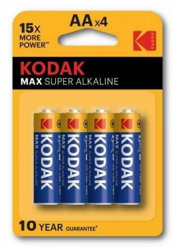 4 x Bateria Kodak MAX SUPER ALKALINE LR6/AA blister