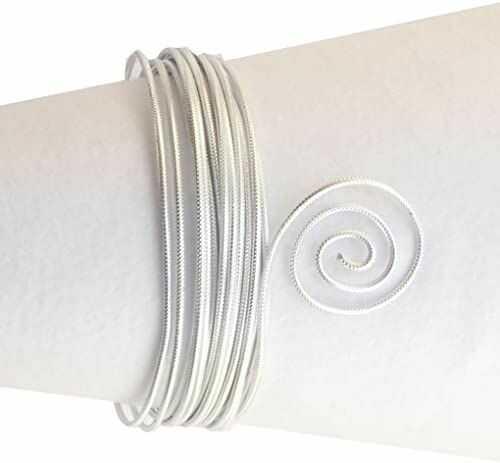 Vaessen Creative Aluminiowy drut tłoczony okrągły 2 mm 5 m srebrny,