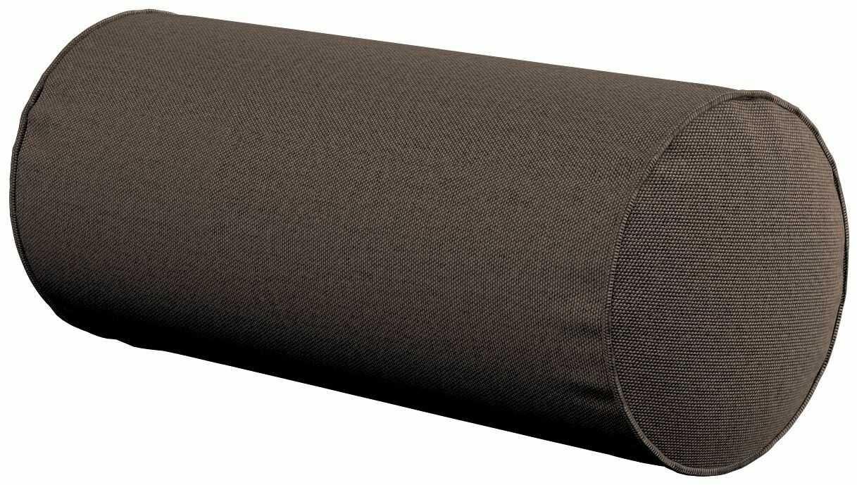 Poduszka wałek prosty, brązowy, Ø16  40 cm, Etna