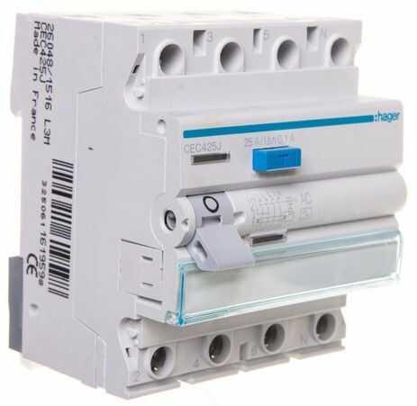 Wyłącznik różnicowoprądowy 4P 25A 0,1A typ AC CEC425J