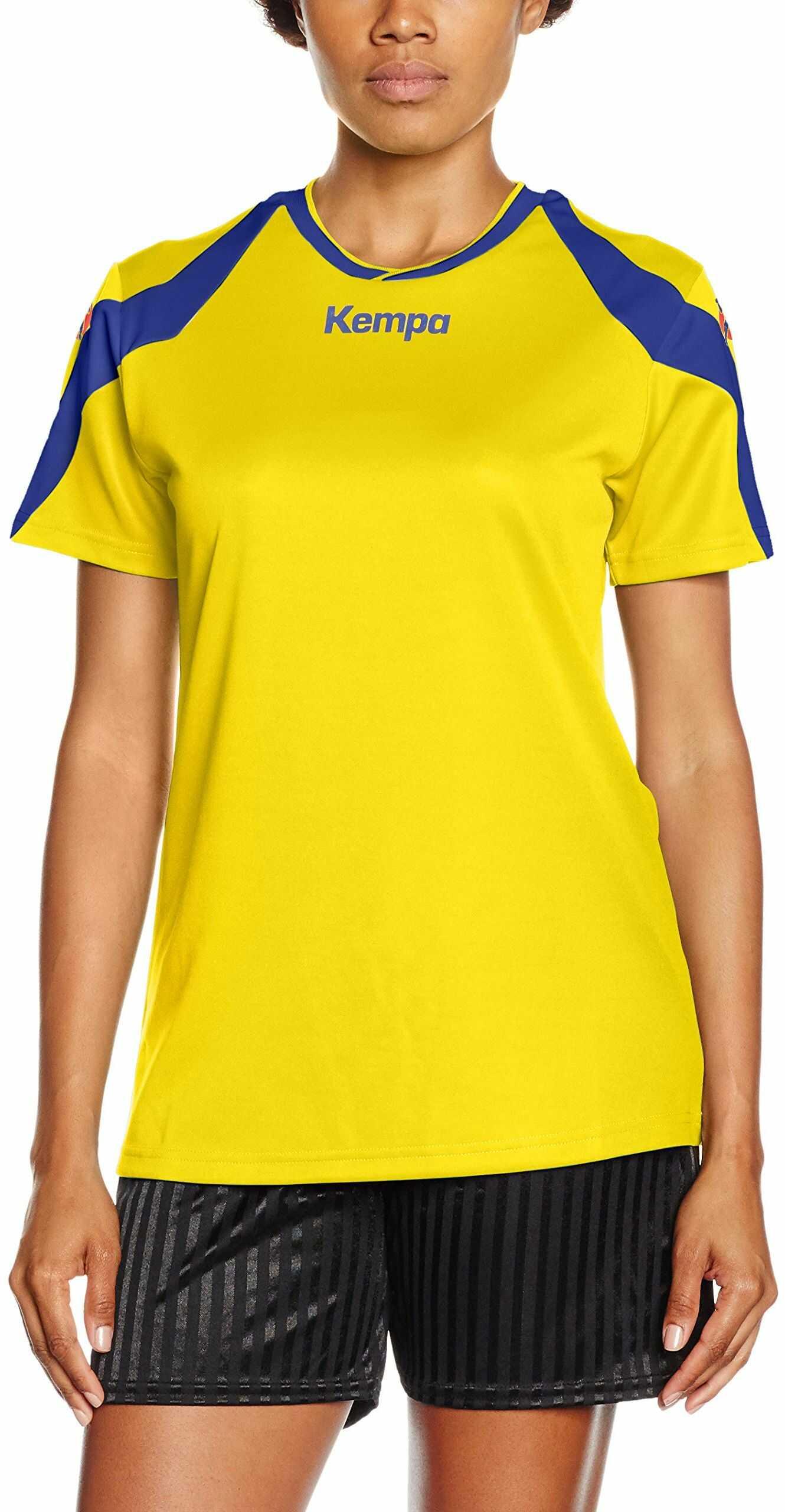 Kempa Damska koszulka Motion, żółta/royal, XL