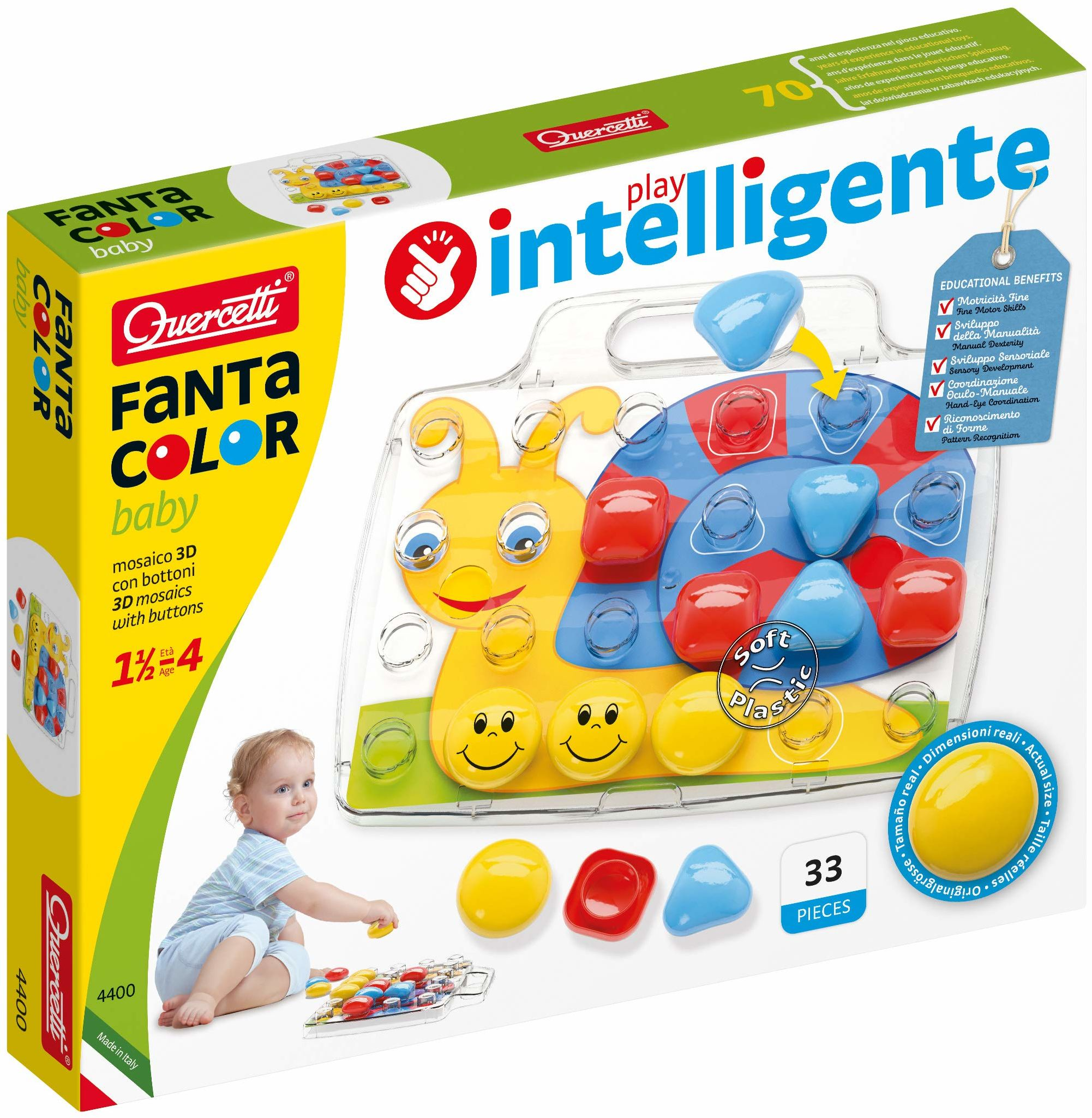beluga Baby Basic 4400 pikseli, 24 Quercetti 4400 pikseli, kolorowy
