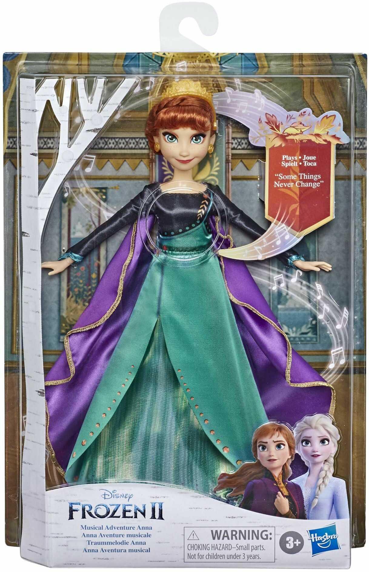 """Frozen Śpiewająca lalka Anna - muzyczna przygoda z Krainy lodu Disneya, śpiewa piosenkę """"To niezmienne jest"""" z filmu Disneya Kraina lodu II"""
