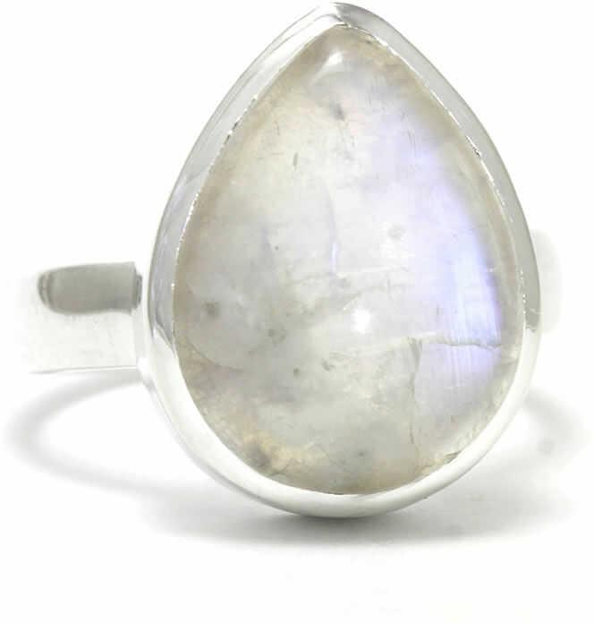 Kuźnia Srebra - Pierścionek srebrny, rozm. 19, Kamień Księżycowy, 8g, model