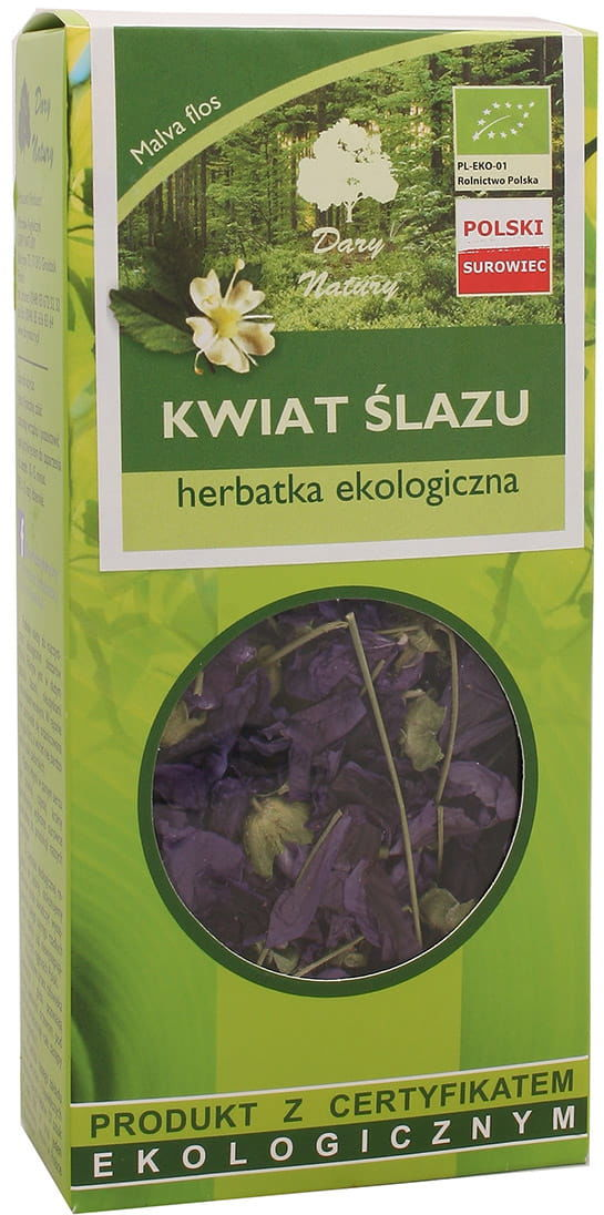 Kwiat ślazu BIO - Dary Natury - 20g