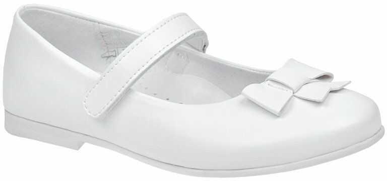 Balerinki buty komunijne KORNECKI 6097 Białe Baleriny