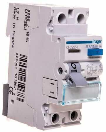 Wyłącznik różnicowoprądowy 2P 25A 0,3A typ AC CFC225J