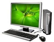 Acer Veriton L410 komputer stacjonarny (AMD Athlon 64 X2 4850e 2,5 GHz, 1 GB RAM, 160 GB HDD, RS690 onboard, DVD+- DL RW, Vista Business)