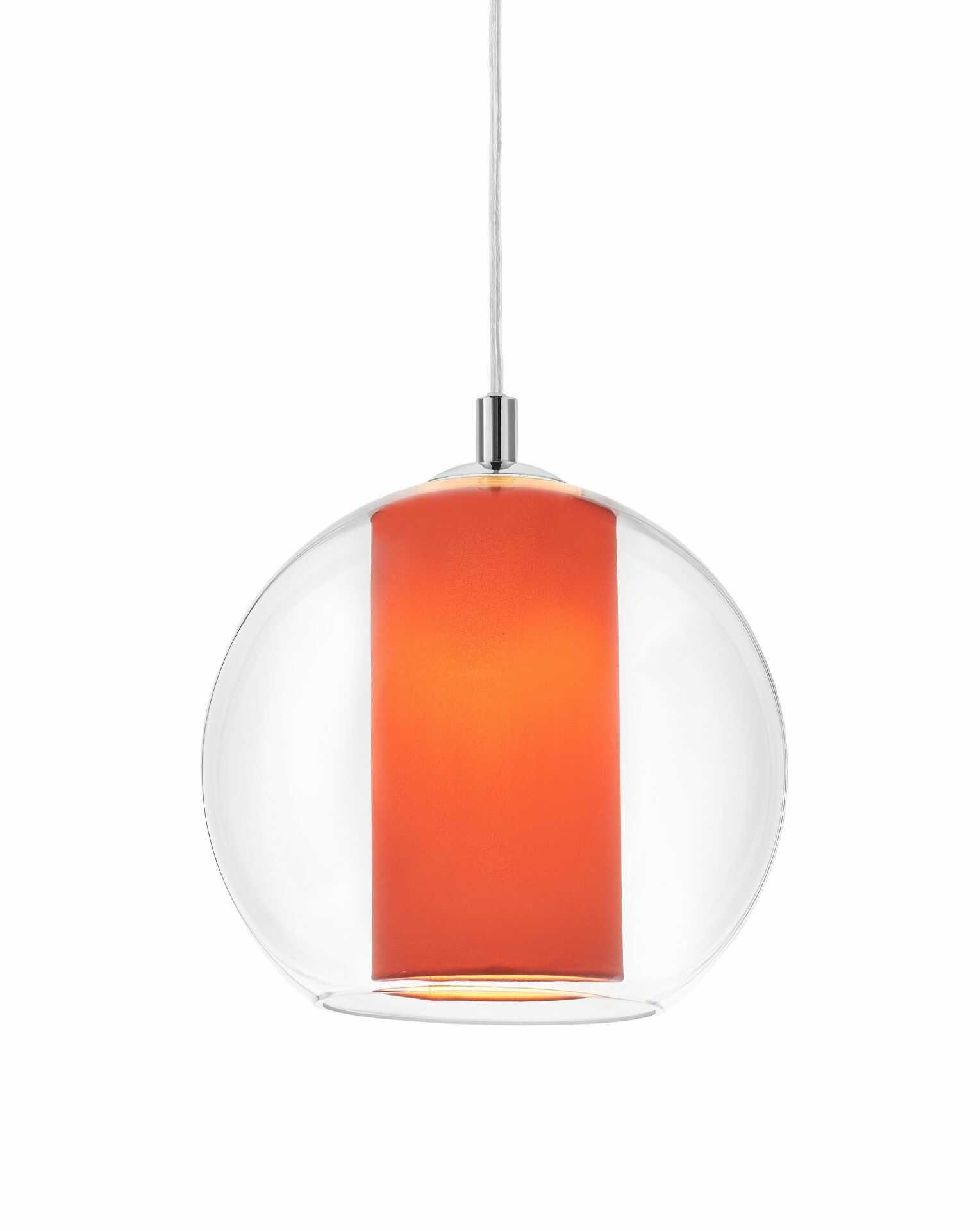 Lampa wisząca Merida S 10408111 KASPA szklana oprawa w kolorze koralowym