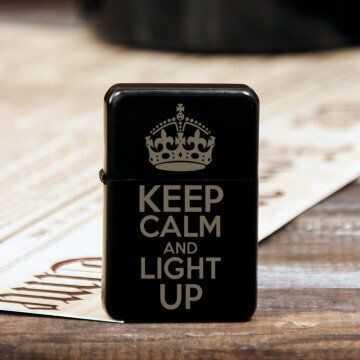 Keep calm - Zapalniczka z grawerem