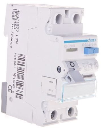 Wyłącznik różnicowoprądowy 2P 40A 0,3A typ AC CFC240J