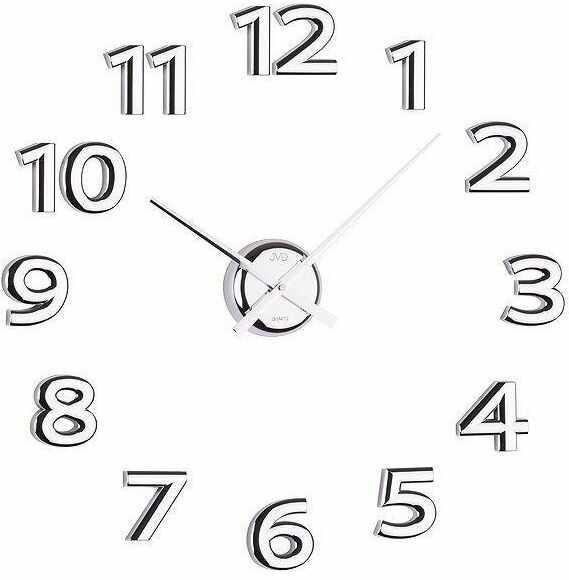 Zegar ścienny JVD HB12 naklejany na ścianę, szybę... Silver