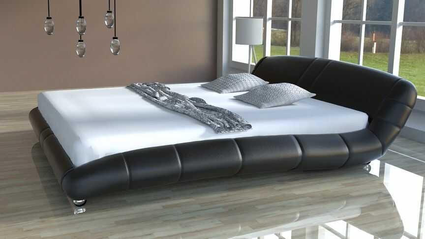 Łóżko do sypialni Lazurro-2 Slim skóra naturalna