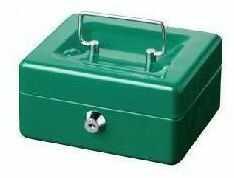 Metalowa kasetka na klucz do przechowywania pieniędzy Cashbox 5030