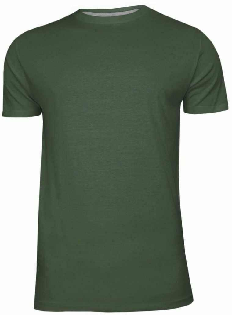 Zielony Bawełniany T-Shirt Męski Bez Nadruku -Brave Soul- Oliwkowa Koszulka, Krótki Rękaw, Basic TSBRSSS20GRAILlightkhaki