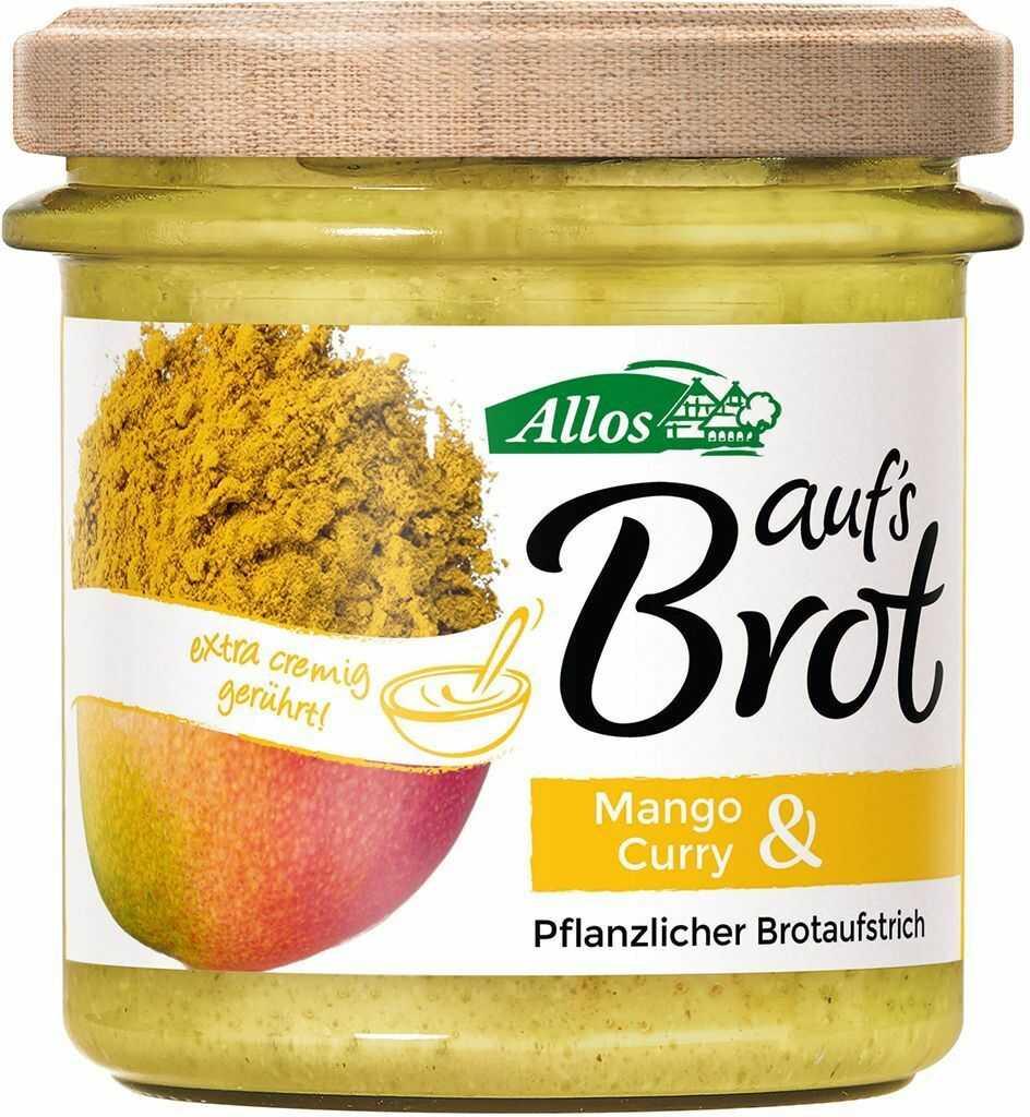 Pasta kremowa z mango i curry bezglutenowa bio 140 g - allos