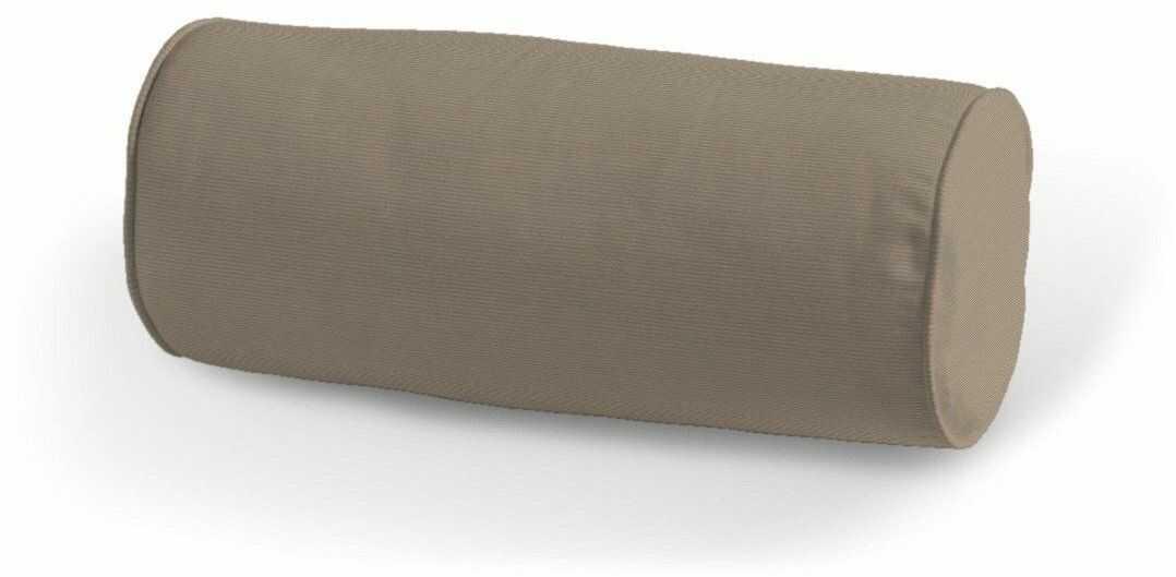 Poduszka wałek prosty, Grey Brown (szary brąz), Ø16  40 cm, Cotton Panama