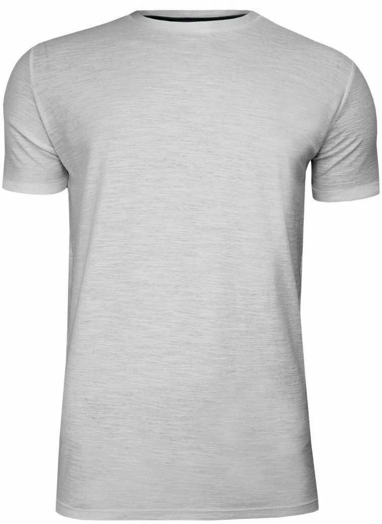 Szary Bawełniany T-Shirt Męski Bez Nadruku -Brave Soul- Koszulka, Krótki Rękaw, Basic TSBRSSS20GRAILecruemarl